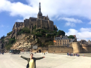 Arrivée au Mont-Saint-Michel